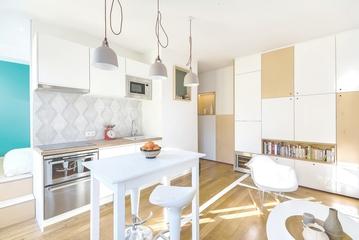 30平一居室单身公寓设计 北欧风格美居