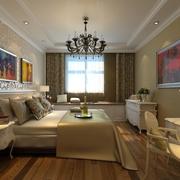 79平简约两居住宅案例欣赏卧室灯饰