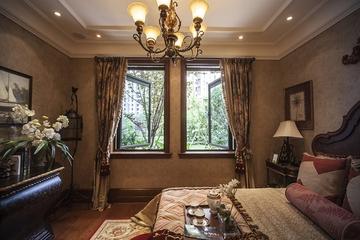 深色温馨简欧住宅欣赏卧室