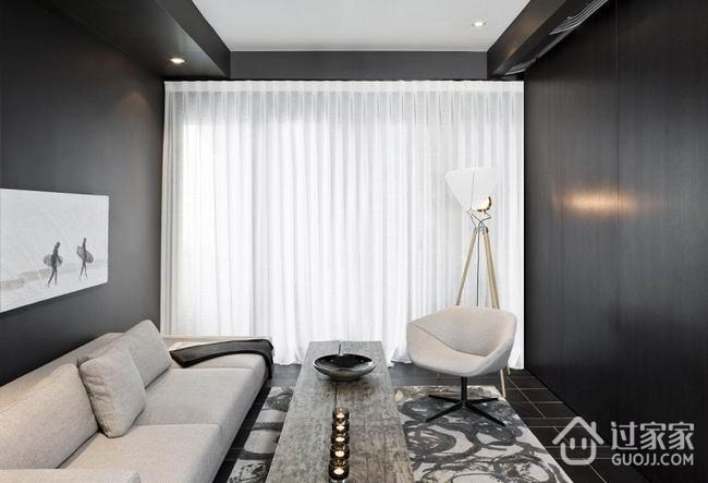 现代暗色调高端住宅欣赏