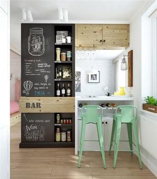 北欧一室一厅住宅欣赏厨房
