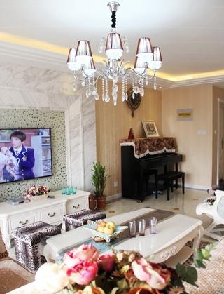 客厅灯饰装修效果图 浪漫简欧风