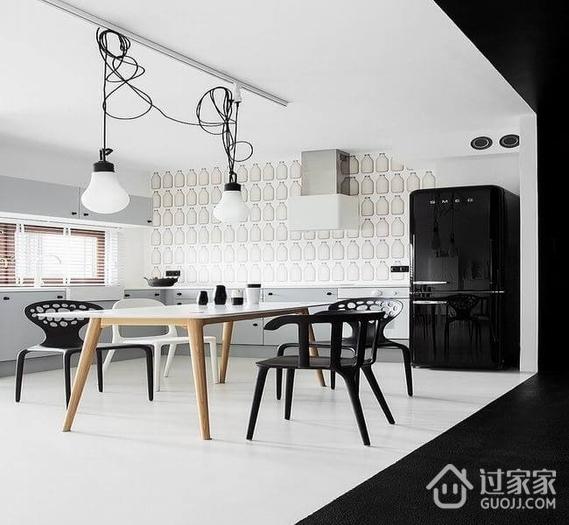 黑白现代一居室欣赏