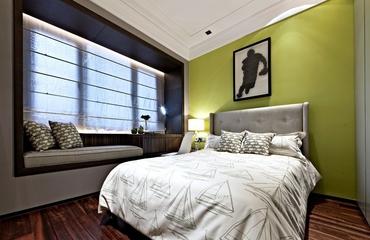 奢华新古典样板房欣赏卧室飘窗