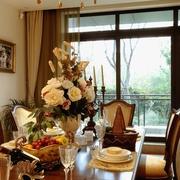 欧式别墅装饰效果图餐桌