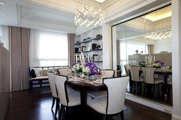 新古典三居室样板房案例欣赏餐厅灯饰