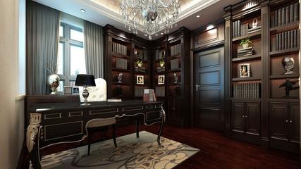 混搭时尚大宅设计欣赏书房