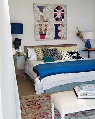 创意卧室背景墙装饰效果图 清新舒适