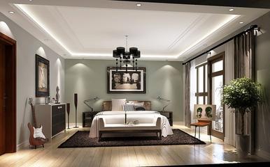 130平美式四居室欣赏卧室灯饰