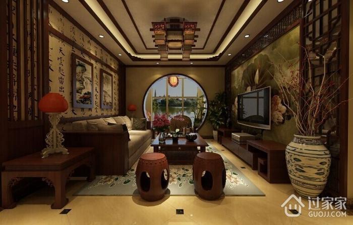 中式风格客厅灯饰展示 古色古香的气息