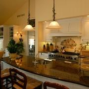 美式风格大户型厨房效果图