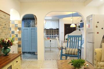地中海小资户型住宅欣赏客厅室内门