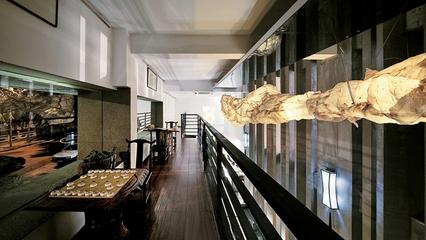新中式禅意别墅欣赏阳台