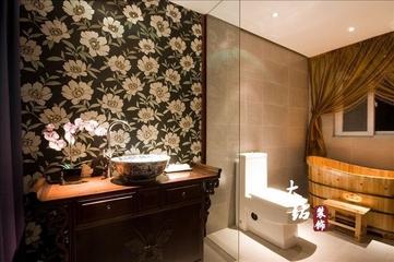 97平新中式住宅三居欣赏洗手间