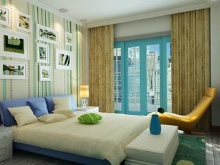 110平彩色混搭复式楼欣赏卧室