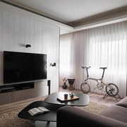 现代风两居室住宅欣赏客厅局部