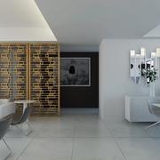 白色现代风格设计案例欣赏过道效果