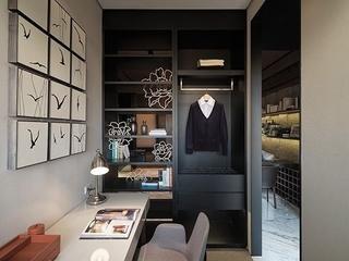 76平现代风两居室欣赏卧室衣柜设计