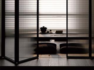 120平现代三室两厅住宅欣赏茶室