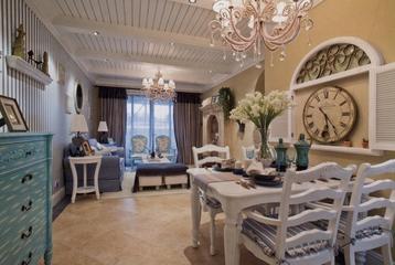 92平地中海两居室欣赏餐厅餐桌