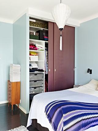 60平白色宜家单身公寓欣赏卧室陈设