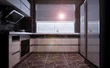 110平新古典效果图欣赏厨房