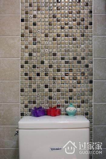 美式风三居室雅居欣赏卫生间背景墙