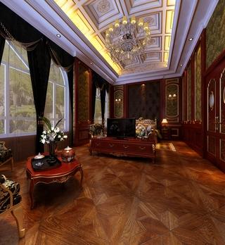 140平奢华中式样板房欣赏