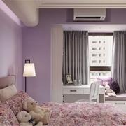 温暖小孩房 田园卧室窗帘装饰图