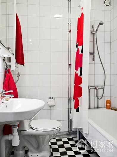 62平干净舒适宜家公寓卫生间