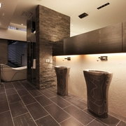 光影合作简约复式欣赏卫生间设计