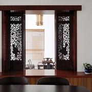 最新家居餐厅镂空窗户效果图片