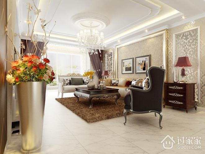 奢华新古典四居室欣赏客厅全景