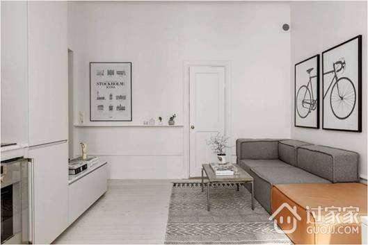 62平米一居室小户型装修 北欧风格接地气