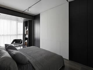 87平深色现代三居欣赏卧室局部设计