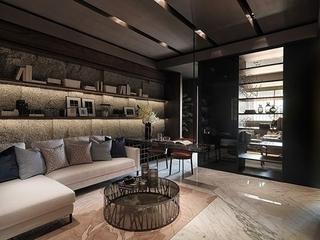 76平现代风两居室欣赏客厅背景墙