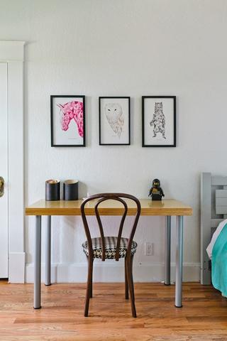 白色北欧小两居设计欣赏卧室照片墙