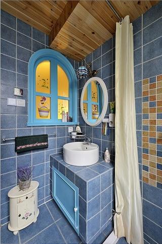 185平地中海温馨别墅欣赏洗手间