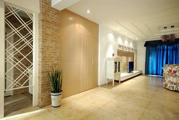 地中海风设计图客厅隐形门