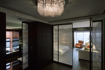 现代风格舞墨空间效果图卧室过道