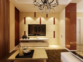 高贵奢华客厅硬包背景墙装饰