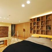 89平日式温馨复式楼欣赏卧室效果