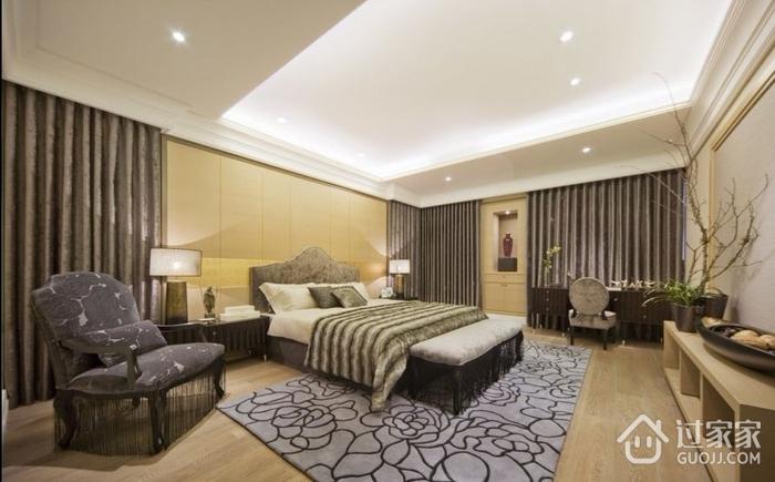 精品温馨简约三居室欣赏卧室吊顶