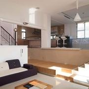 日式淡雅出彩复式欣赏客厅
