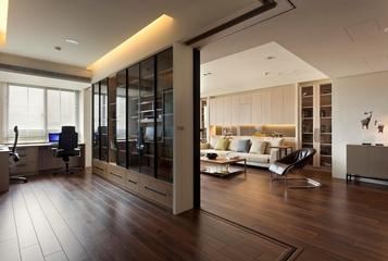 现代风书房书柜设计效果图 简单与纯净
