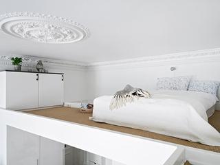 白色现代风一居室欣赏卧室吊顶