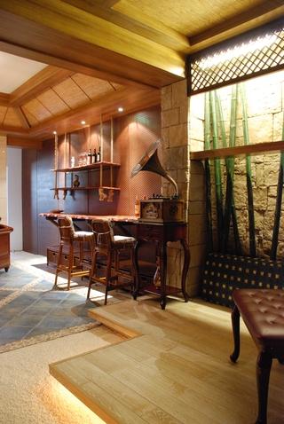 东南亚设计吧台全景效果图