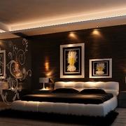 新古典灰雅三居室欣赏卧室背景墙设计
