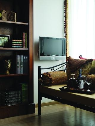 地中海效果图套图书房电视背景墙