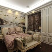 110平简欧三居室案例欣赏卧室背景墙
